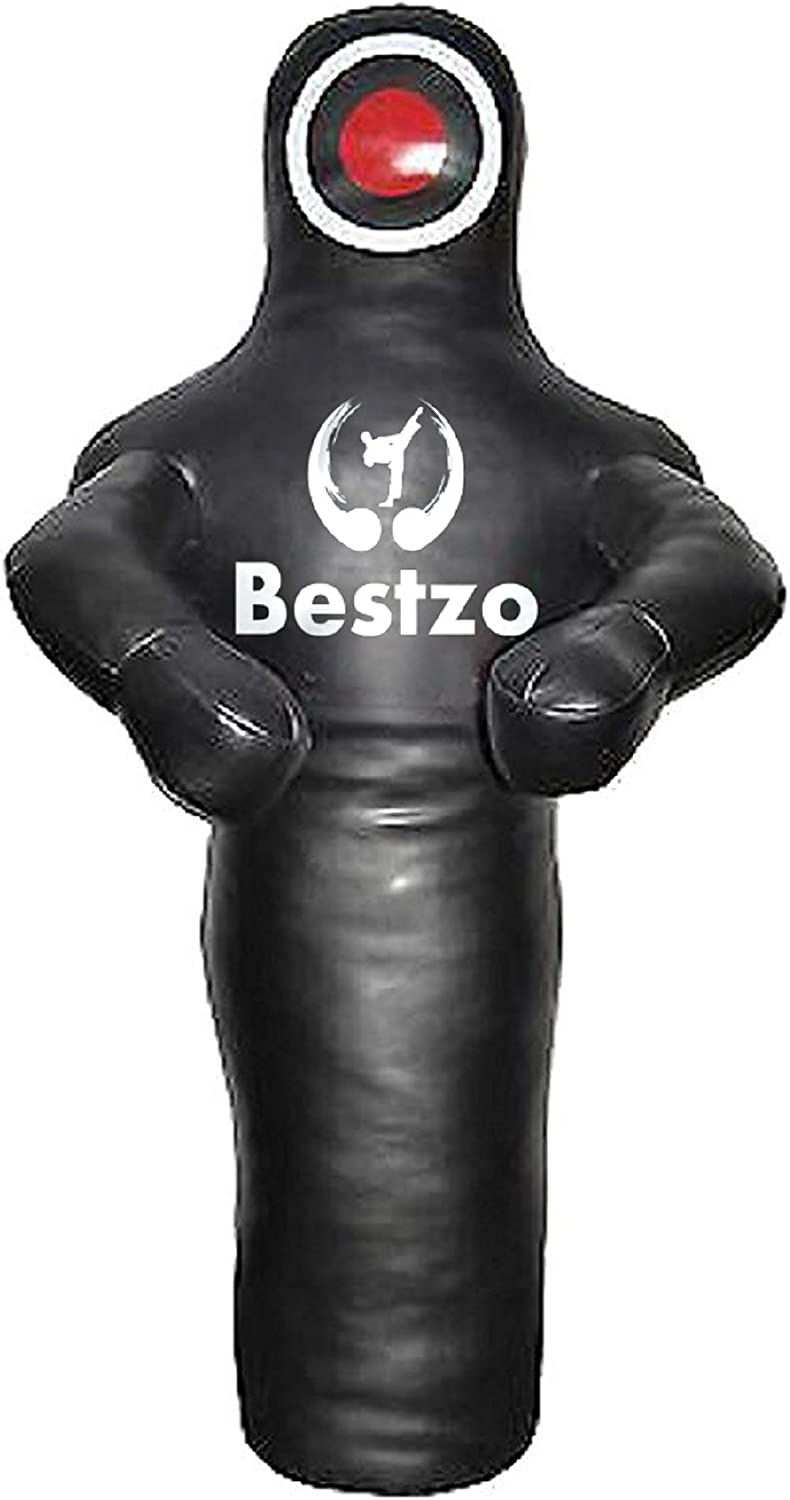 bestzo MMA Martial ArtsブラジルGrapplingダミー黒-unfilled Synthetic Leather 黒 70 inches (6 ft)