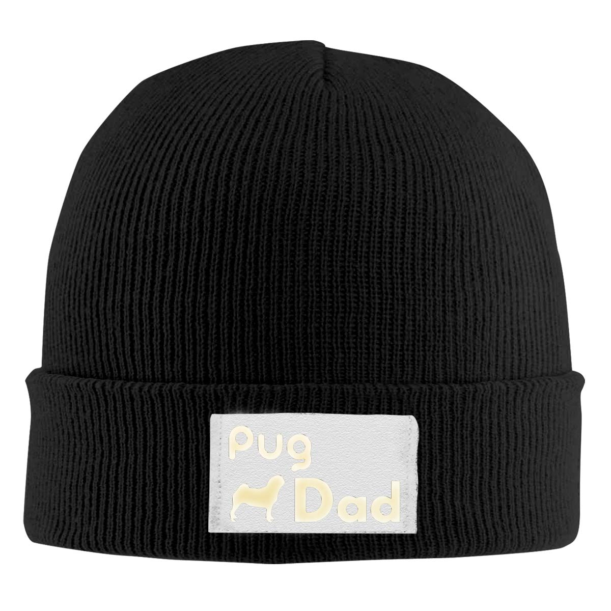 Dunpaiaa Skull Caps Bah Humbug Big Foam Winter Warm Knit Hats Stretchy Cuff Beanie Hat Black