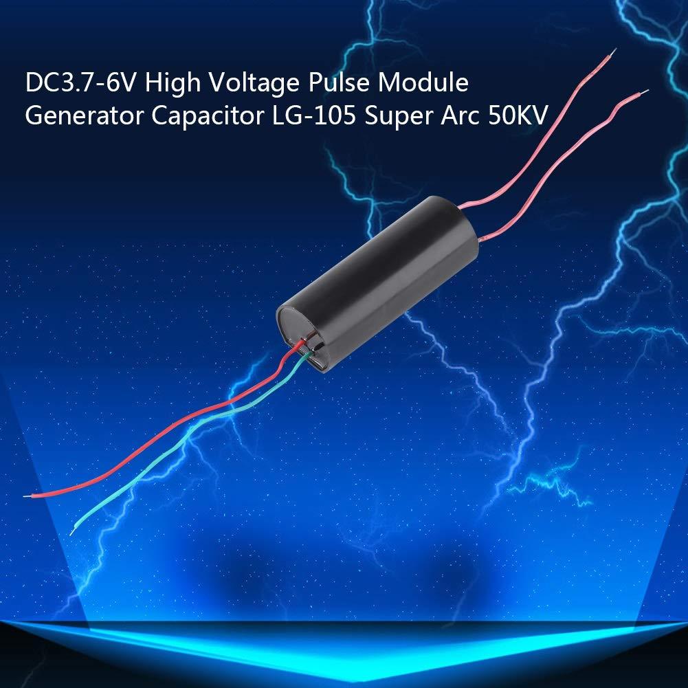 High Voltage Generator-DC3.7V-6V High Voltage Pulse Generator Output 50KV Super Arc Ignition Coil Module