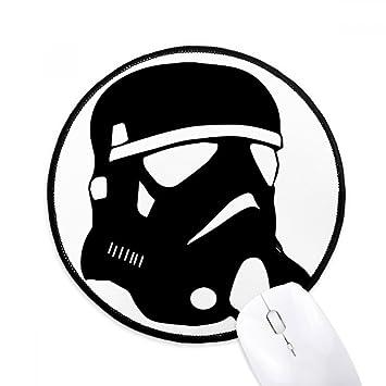Starry Wars - Máscara de gas de contaminación redonda antideslizante para ratón con bordes negros
