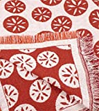 "Tangerine Sand Dollar Eco2Cotton Afghan Throw Blanket 50"" x 60"""