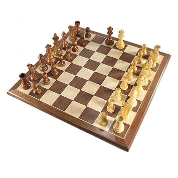 3 3/4u0026quot; Mark Of Westminster Honey Rosewood French Staunton Chess Set