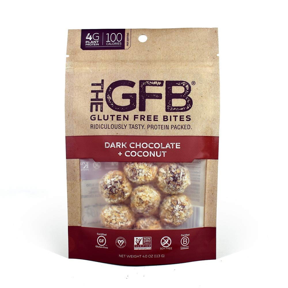 The GFB Gluten Free, Non GMO High Protein Bites, Dark Chocolate Coconut, 4 Ounce (6 Count) by The Gluten Free Bar