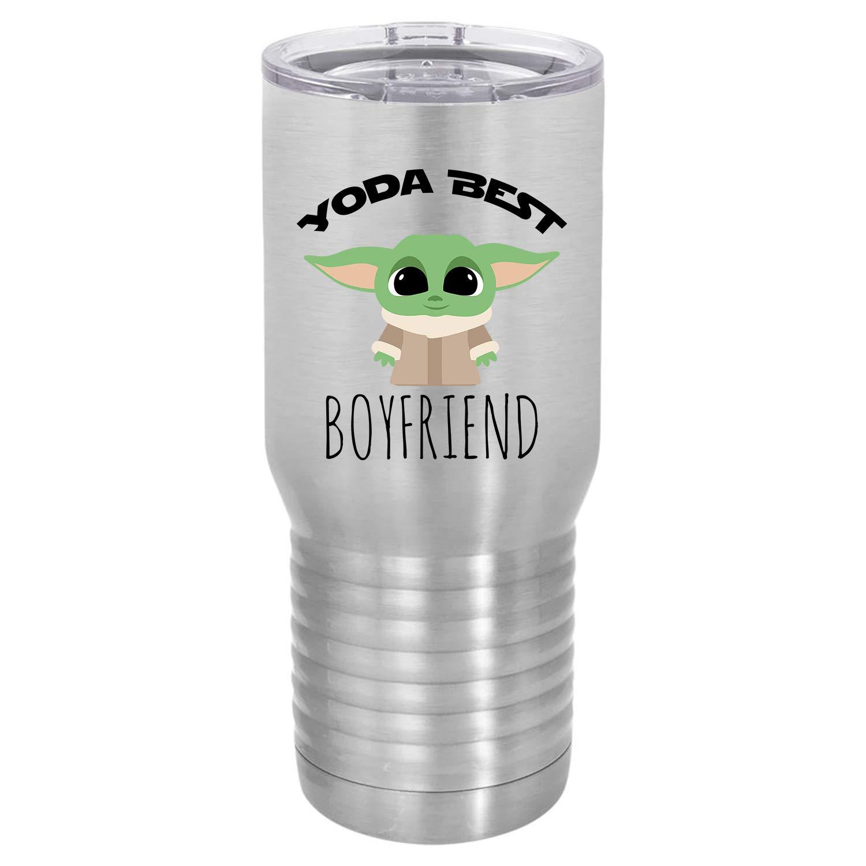 Boyfriend Stainless Steel 20 oz Yoda Best Tumbler Travel Mug