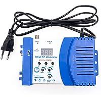 ANBOTER - Modulador HDMI a DVI, Full HD para DVB-T Freeview HDTV MPEG4 USB Pre Config Function, Color Azul