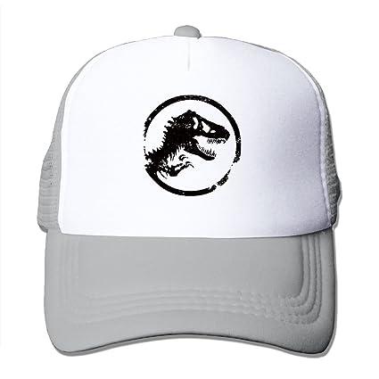 Mieba Jurassic Park World Logo Mesh Hat Tennis Trucker Snapback Cap Ash cdab48c633c