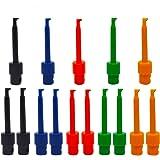 Senven 15 st multimeter tråd bly-testkrok klämma elektronisk mini test sond set, röd × 3 blå × 3 svart × 3 gul × 3 grön…