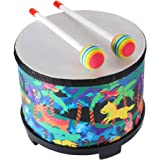 Floor Tom Drum for Kids 8 inch Montessori Percussion Instrument Music Drum with 2 Mallets for Baby Children Special Christmas