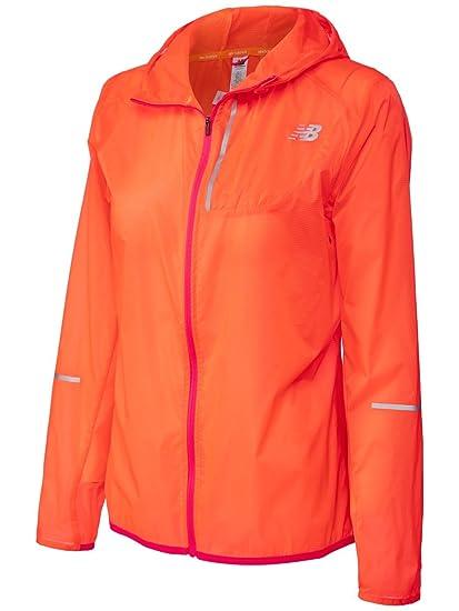 dla całej rodziny niska cena sprzedaży nowe promocje New Balance Lite Packable Jacket - Womens - Orange: Amazon ...
