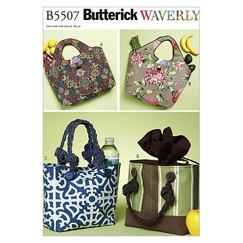 Butterick Patterns B5507 Shopping and Lunch Bags, One Size Only