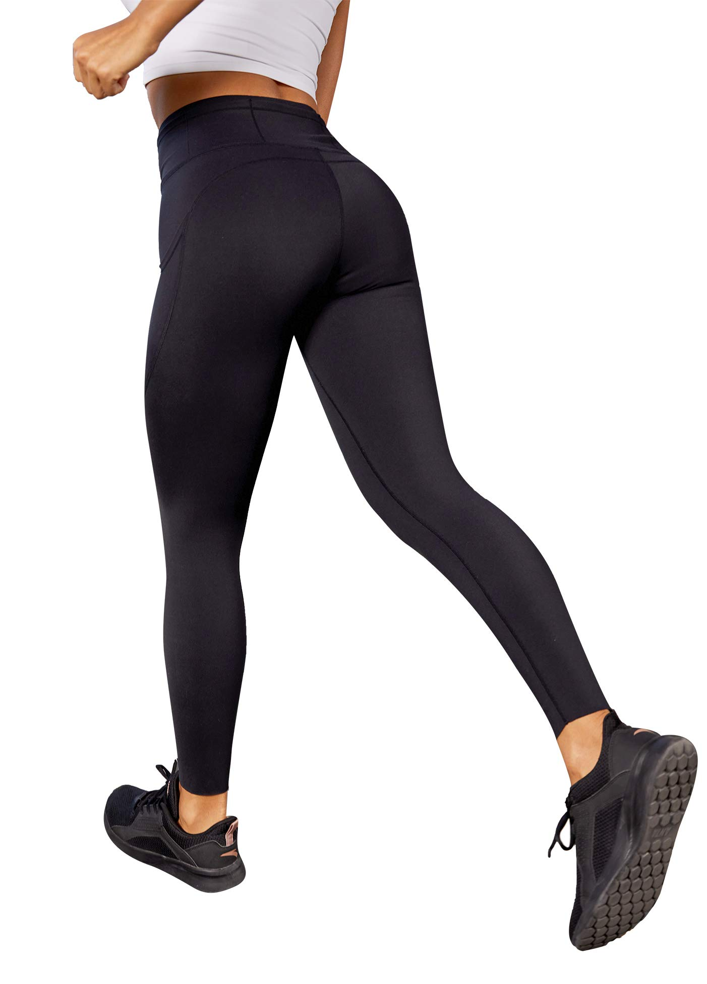 BATHRINS High Waist Yoga Pants with 7 Pockets for Women 4 Way