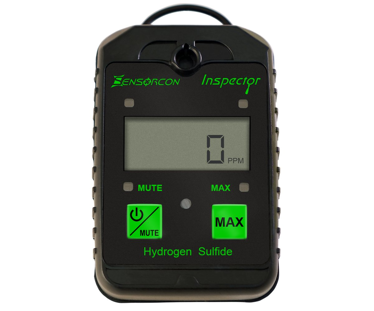 Tough, Waterproof, USA Made: Hydrogen Sulfide Detector, Meter & Monitor - H2S Detector, Sensor (H2S Inspector by Sensorcon)