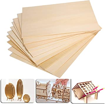 10 Pieces DIY Craft Plastic Plate Board Sheets for Handcraft Airplane Model