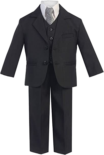 Amazon.com: Little Gents - Traje de 5 piezas para niño con 2 ...