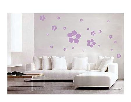 BONAMART ®Violett Sakura Abnehmbare Schlafzimmer Kinderzimmer ...