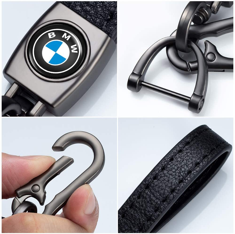 NOFEAR Suit for Honda Key Chain Car Logo Keychain for Honda Civic Accord Motorcycles Pilot CR-V Key Chain Key Ring ,Business Gift Birthday Present for Men and Woman 1 pcs Black
