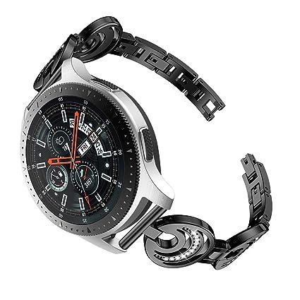 samLIKE Pulsera Reloj Samsung Galaxy, 46 mm, para Hombre y Mujer, de Acero