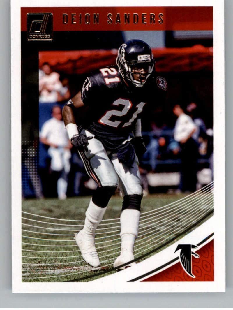 2018 Donruss Football #18 Deion Sanders Atlanta Falcons Official NFL Trading Card