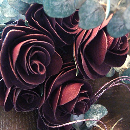 Handcrafted leather roses (6, Purple) by BINESHII