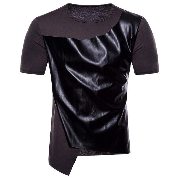 Camiseta para Hombre, ZARLLE Hombres Casual Remiendo de
