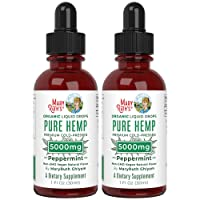 (2 Pack) Organic Pure Hemp Oil Extract 5000mg by Nutritional Consultant & Top Chef...