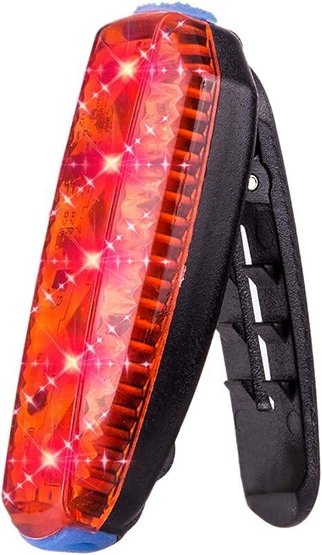 JVSISM Led Bike Tail Light Corriendo Clip de la Bolsa Luz USB ...