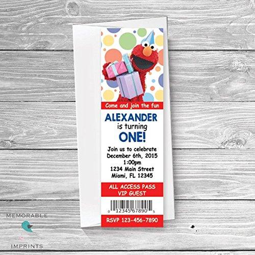 Amazon Elmo Ticket Invitation