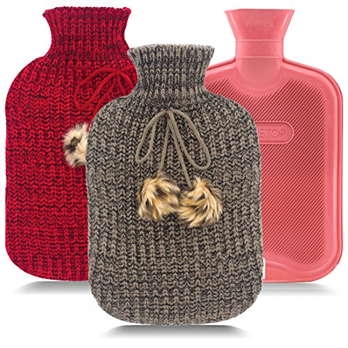hot water bottle knit cover - 2