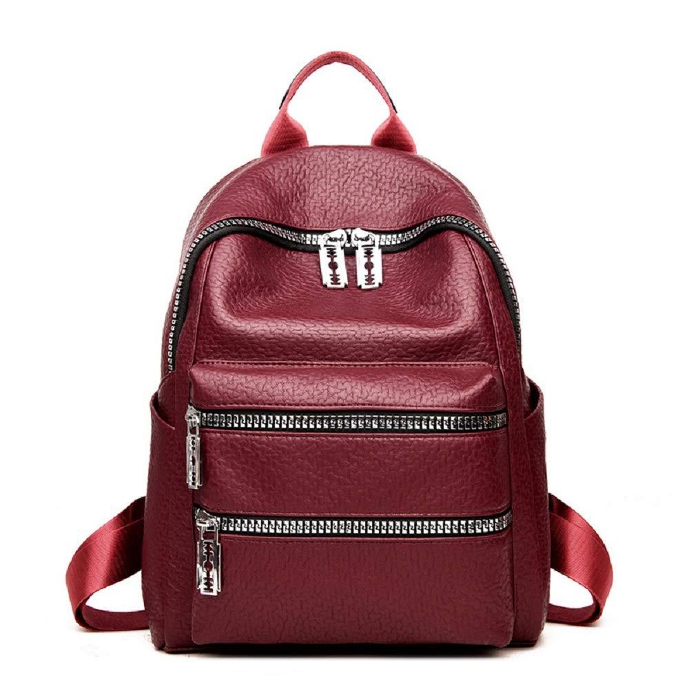 Zhrui Praktischer Moderner Rucksack der Frauen vorzüglicher beiläufiger Daypack (Farbe   Rot)