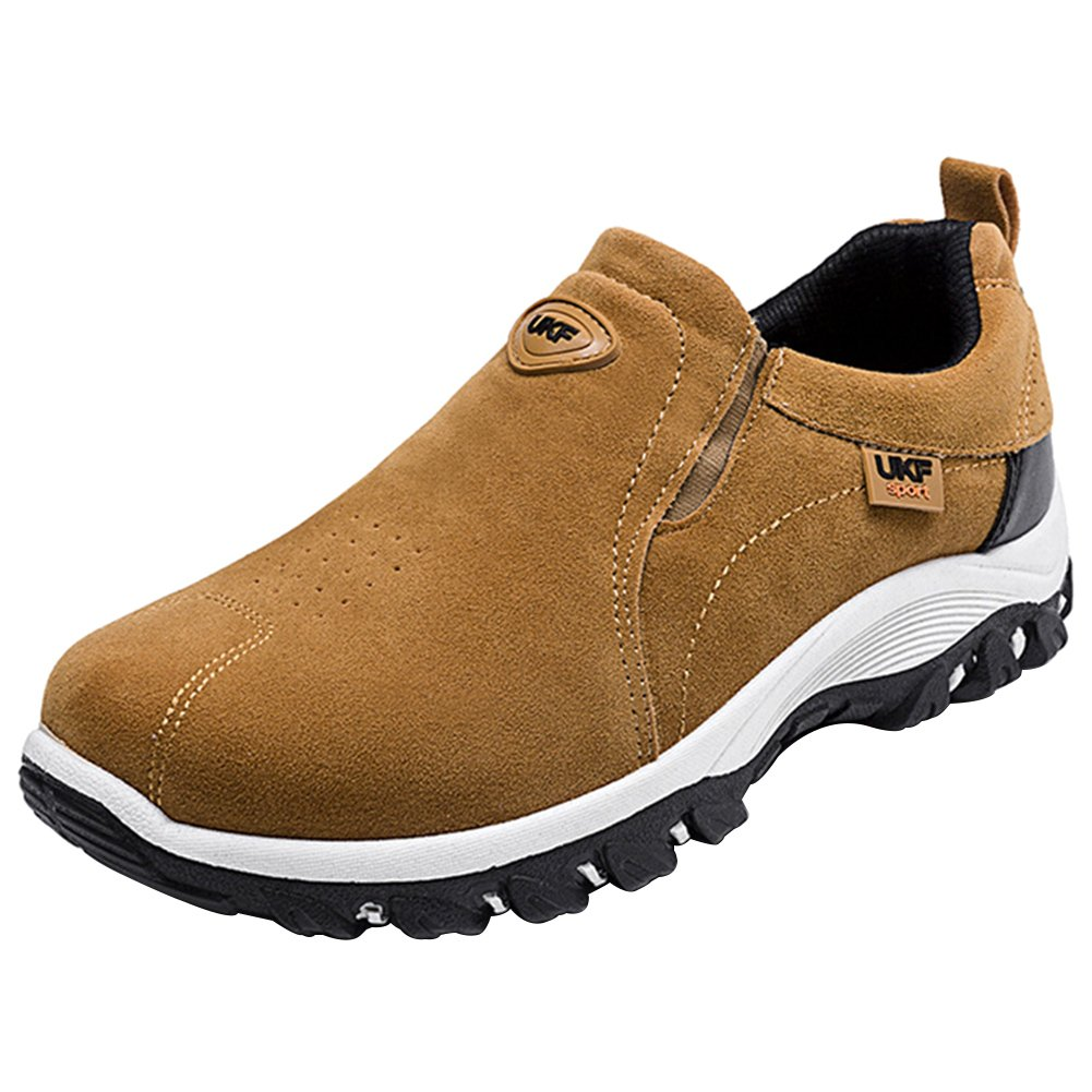Wealsex Zapatos De Senderismo Para Hombre Zapatos Para Caminar Al Aire Libre Sin Encaje Zapatos Casuales
