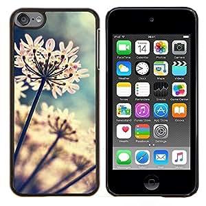 LECELL--Funda protectora / Cubierta / Piel For Apple iPod Touch 6 6th Touch6 -- Flores del jardín floreciente de Sun --