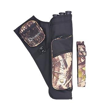 AZX Carcaje para Arco, Tiro al arco Caza al arco flecha, Cinturón 3 Tubo Archery Arrow Holder Bag (Camuflaje): Amazon.es: Deportes y aire libre