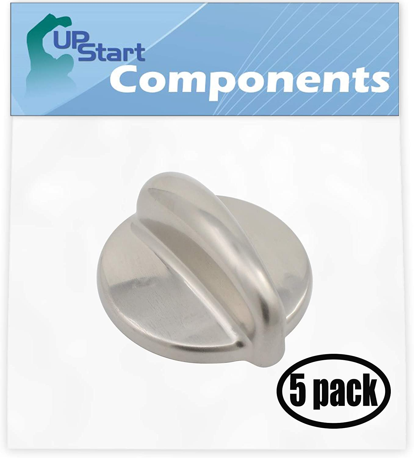 5 Pack Replacement Surface Burner Control WB03K10303 Range, Stove, Oven Control Knob for General Electric PGB918SEM1SS Gas Range
