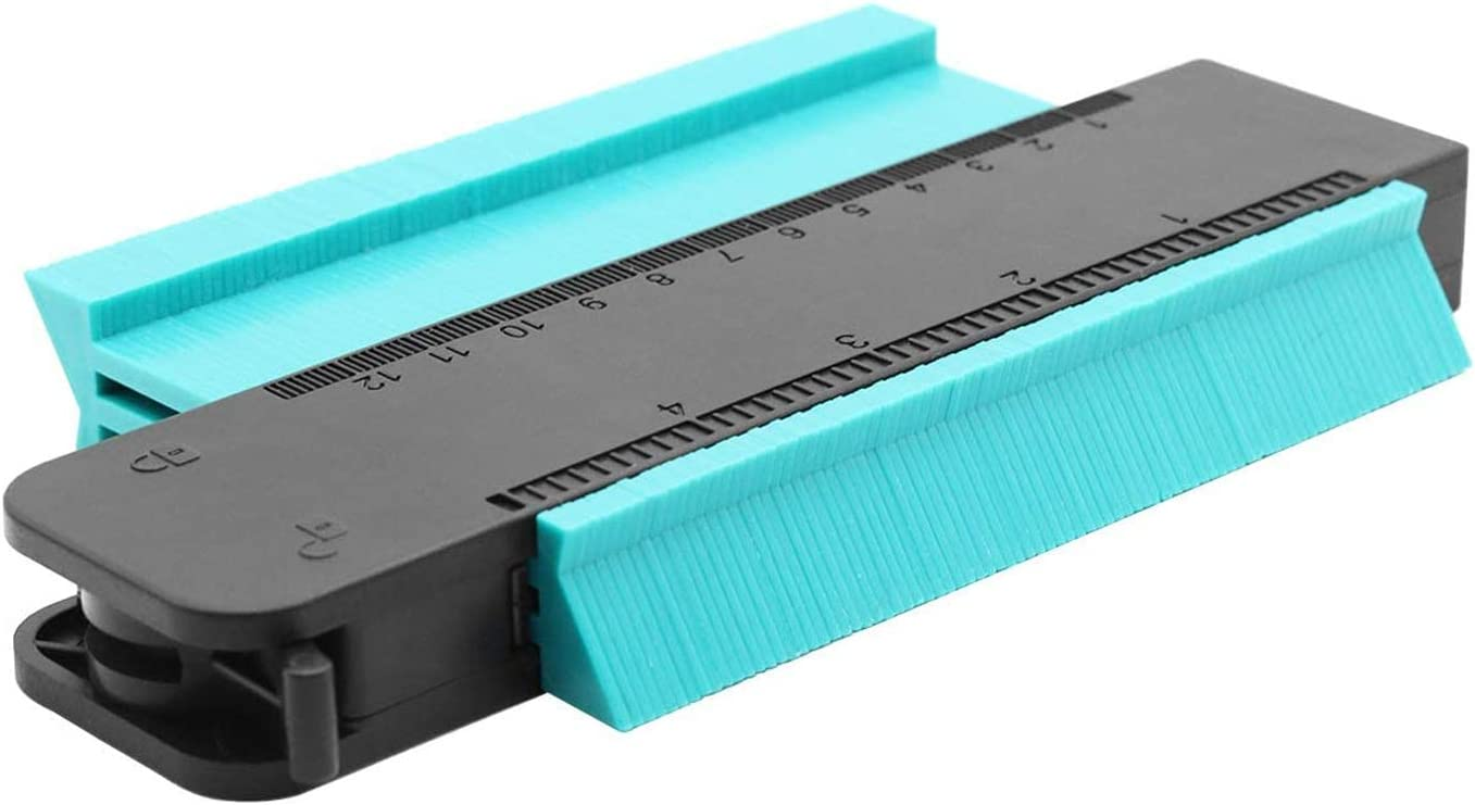 "2 Pieces Contour Gauge Duplicator,SENDIN Plastic Profile Gauge,5/"" and 10/"" Shape"