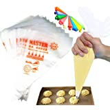 Qisuma 100 Pack 10-inch Piping Bags, Frosting Bags, Tipless Piping Bags, Icing Piping Bags, Best Frosting Icing Bags for…