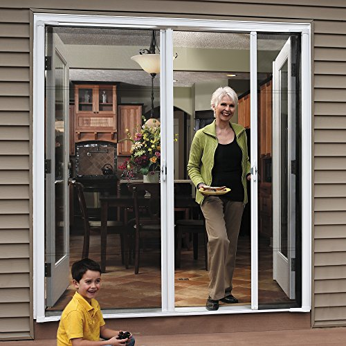 Charmant ODL Brisa Premium Retractable Screen Kit For 80 In. Inswing Hinged Double  Doors   White     Amazon.com