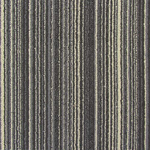 All American Carpet Tiles Victory 23.5 x 23.5 Easy to Install Do It Yourself Peel and Stick Carpet Tile Squares - 9 Tiles Per Carton - 34.52 Square Feet Per Carton (Nightline)