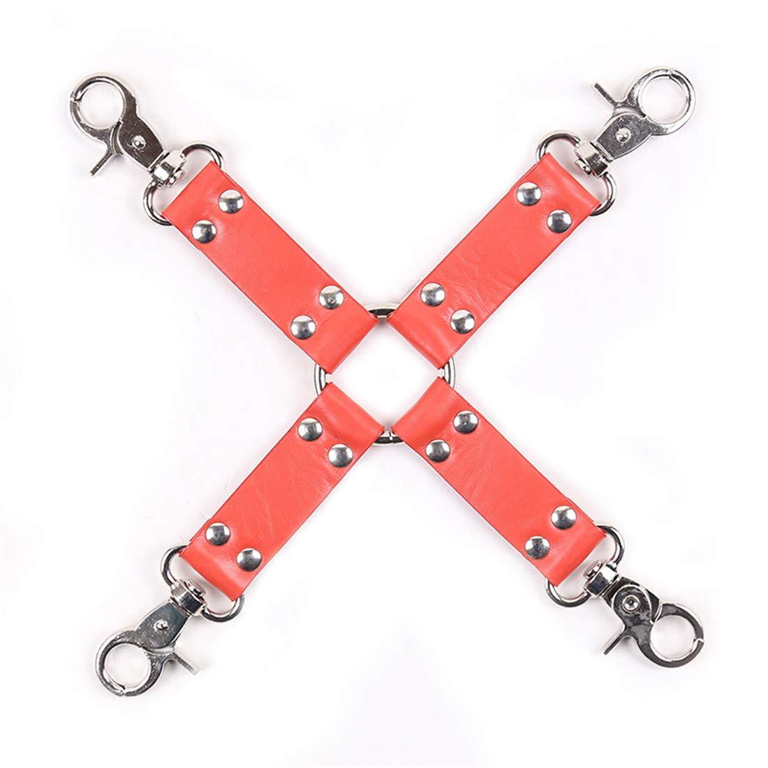 Hemotrade Los Juguetes eróticos de la esclavitud, Esponja esposan el de Cuero Atractivo de el la Hebilla Cruzada del Tobillo para los Pares (Color : Red) efe966