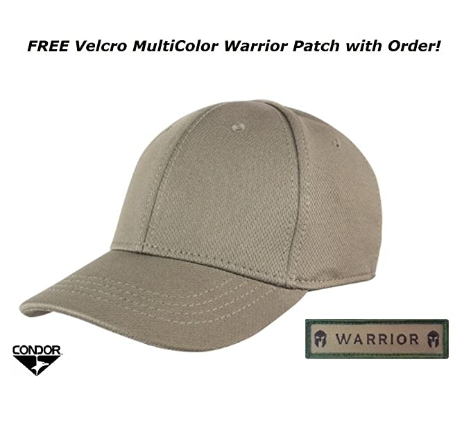 7041d1c4dbd Condor Flex Tactical Team Cap (Tan) + FREE Warrior Patch (Small Medium