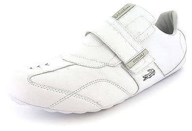 60850724cf25bf Mens White Lacoste Low Profile Velcro Trainer - White Parchment - UK SIZE 12