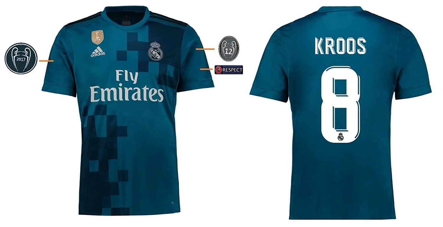 Trikot Kinder Real Madrid 2017-2018 Third UCL - Kroos 8