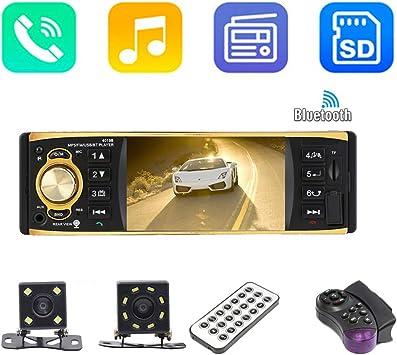 Lovejoy Store Estéreo Bluetooth para Auto, Reproductor MP5 de Coche, 4019B 4.1 Pulgadas, 1 DIN, Radio de Coche, Reproductor de vídeo MP5 con cámara de visión Trasera with 4-LED Rear Camera: Amazon.es:
