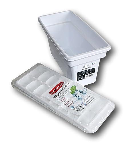 Amazon.com: Rubbermaid Cubito de hielo bandeja y Bin Bundle ...