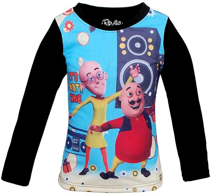 Motu Patlu Boys Hd Print Fullsleeves T Shirt Amazon In Clothing