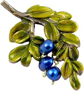 product image for Modern Artisans Blueberry Branch Brooch or Pendant