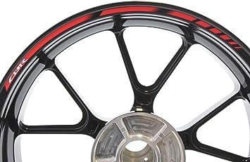 Impressiata Specialgp Felgenstreifen Aufkleber Abziehbilder Klebebänder Wasser Uv Schutzstreifen Reflektierende Motorradgrafiken Kompatibel Mit Honda Cbr 125r Rot Auto
