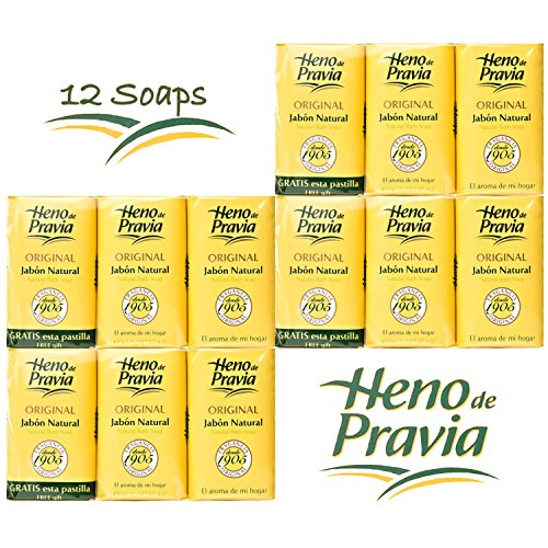 HENO DE PRAVIA - 4 SETS OF 2 SOAPS PLUS 1 FREE 4 OZ. 4-PACK (12 SOAPS)