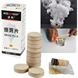 TOPmountain スモークエフェクトケーキ 10個 空気清浄機のモデルデモンストレーション ファイアドリル煙 写真実験のための煙効果ショー