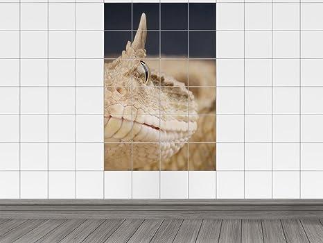 Piastrelle adesivo piastrelle immagine pericoloso serpente beige