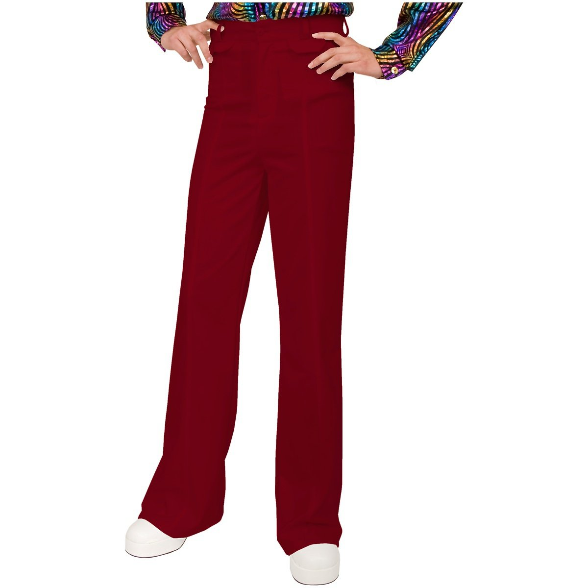 Charades Men's Disco Pants, red, 42